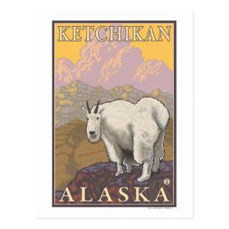 Mountain Goat - Ketchikan, Alaska Postcard