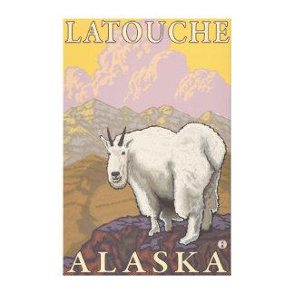 Mountain Goat - Latouche Alaska Stretched Canvas Prints