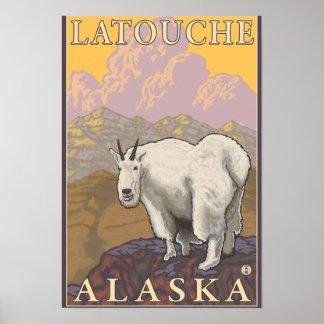 Mountain Goat - Latouche Alaska Posters