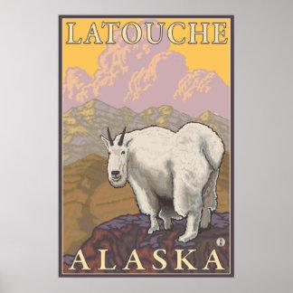 Mountain Goat - Latouche, Alaska Poster