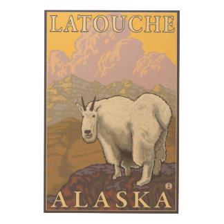 Mountain Goat - Latouche, Alaska Wood Prints