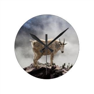 Mountain Goat on Gunsight Pass Trail Wallclock