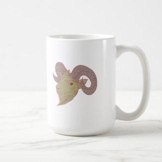 Mountain Goat Ram Head Drawing Coffee Mug