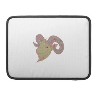 Mountain Goat Ram Head Drawing Sleeve For MacBook Pro