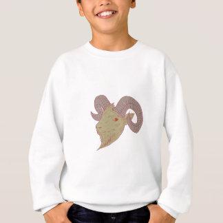 Mountain Goat Ram Head Drawing Sweatshirt
