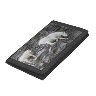 mountain goat trifold wallet