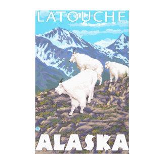 Mountain Goats Scene - Latouche Alaska Gallery Wrap Canvas