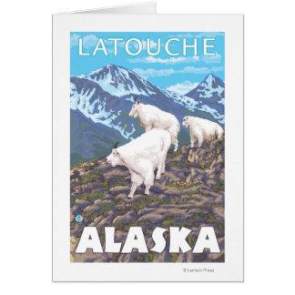 Mountain Goats Scene - Latouche, Alaska Card