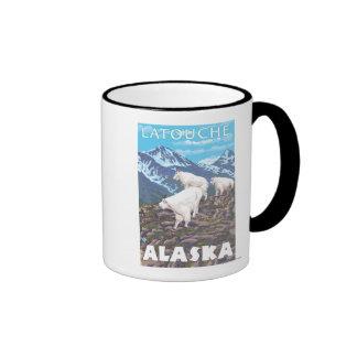 Mountain Goats Scene - Latouche, Alaska Mug
