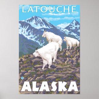 Mountain Goats Scene - Latouche, Alaska Print