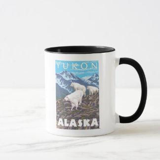 Mountain Goats Scene - Yukon, Alaska Mug