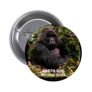 Mountain Gorilla EARTH DAY Button