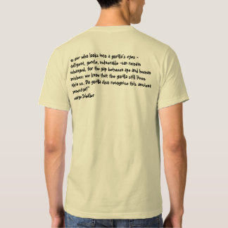 Mountain gorilla tee shirts