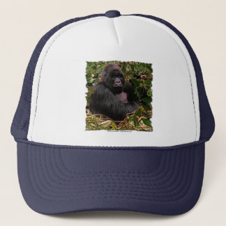 Mountain Gorilla Wildlife Art Trucker Hat