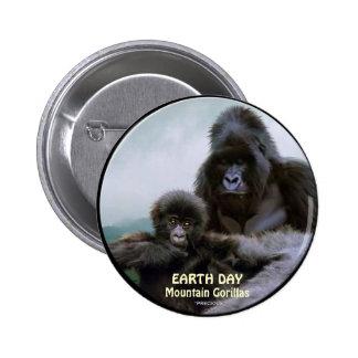 Mountain Gorillas EARTH DAY Button