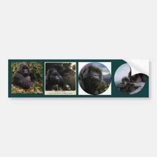 MOUNTAIN GORILLAS Wildlife Multi-sticker Set #VII Bumper Sticker