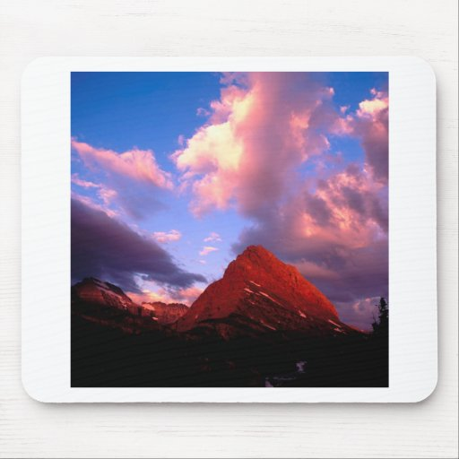 Mountain Grinnell Point Summer Glacier Mouse Pads