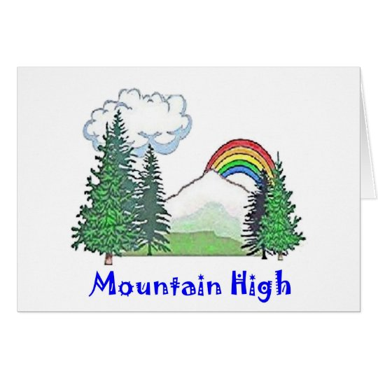 Mountain High Camp Card