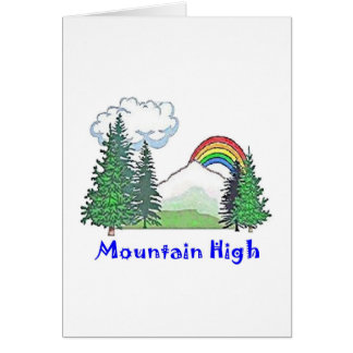 Mountain High Camp Greeting Card