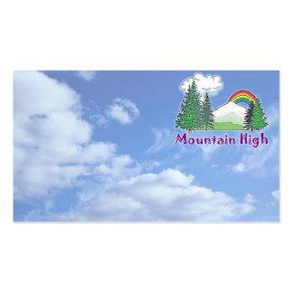 Mountain High Logo Business Card