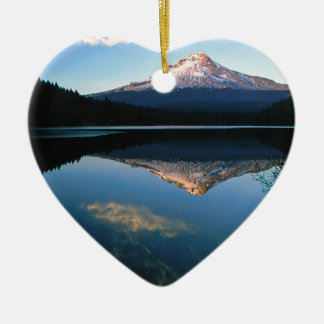 Mountain Hood Trillium Lake Oregon Christmas Ornaments