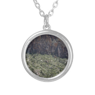 Mountain in Red Rock NV Silver Plated Necklace