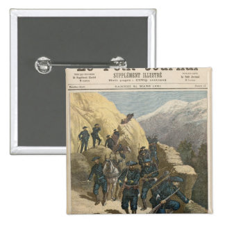 Mountain Infantrymen 15 Cm Square Badge