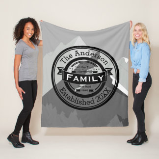 Mountain Inspirational Quote Family Rules Fleece Blanket