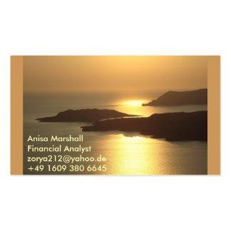 Mountain Island Sunset-Santorini Business Card Templates