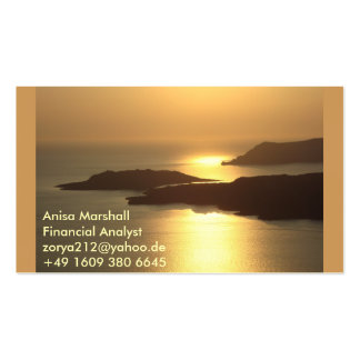 Mountain Island Sunset-Santorini Pack Of Standard Business Cards