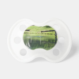 Mountain lake baby pacifier