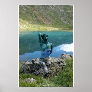 Mountain Lake by Johannes Stötter Poster