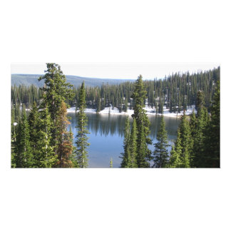 Mountain Lake Customised Photo Card