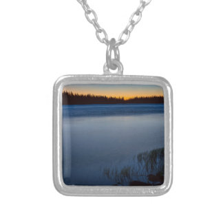 Mountain Lake Glow Silver Plated Necklace