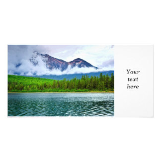 Mountain lake in Jasper National Park Customized Photo Card