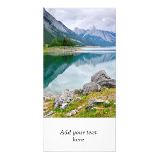 Mountain lake in Jasper National Park Photo Cards