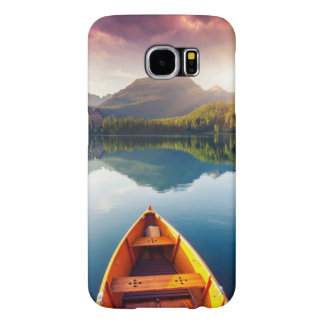 Mountain lake in National Park High Tatra 3 Samsung Galaxy S6 Cases