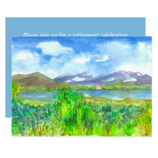 Mountain Lake Painting Retirement Party Invitation
