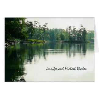 Mountain Lake reflection thank you Card
