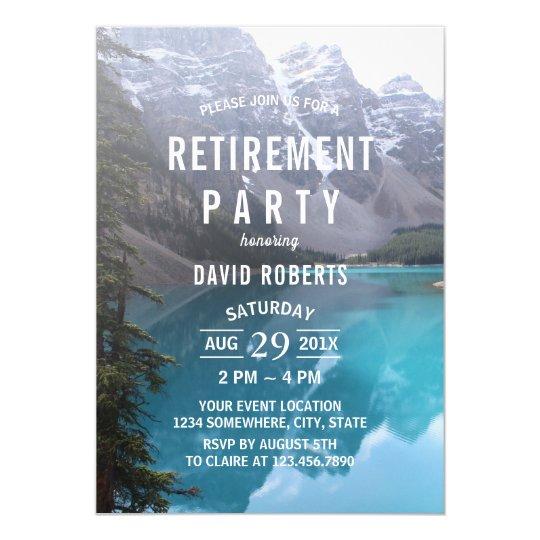 Mountain Lake Retirement Party Card