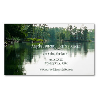 Mountain Lake save the date magnet Magnetic Business Cards