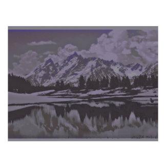 mountain lake snow flyer