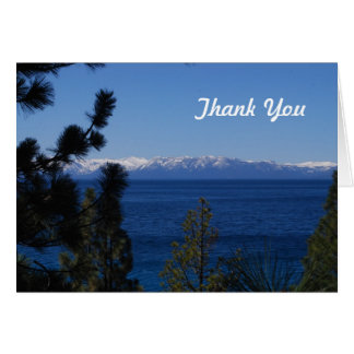 Mountain Lake Thank You Card