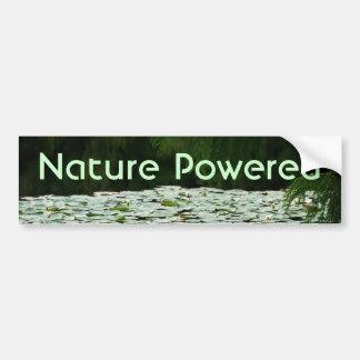 Mountain Lake Water Lilies Car Bumper Sticker