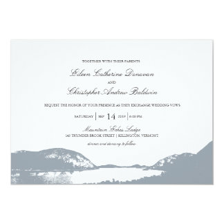 Mountain Lake | Wedding Card