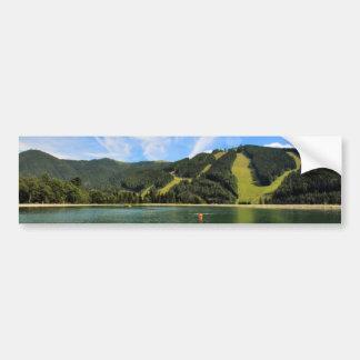 Mountain Lakes Reflection Bumper Sticker