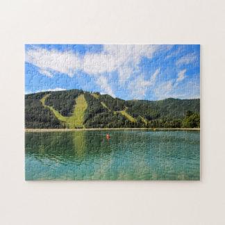 Mountain Lakes Reflection Jigsaw Puzzle