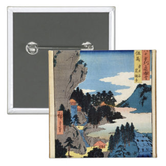 Mountain landscape 15 cm square badge