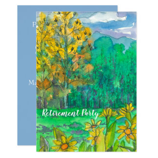 Mountain Landscape Retirement Party Invitation