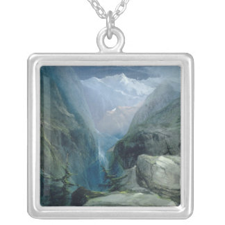 Mountain Landscape Silver Plated Necklace